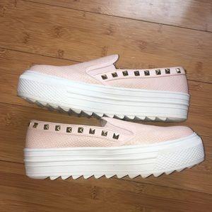 Pink Platform Fashion Sneakers